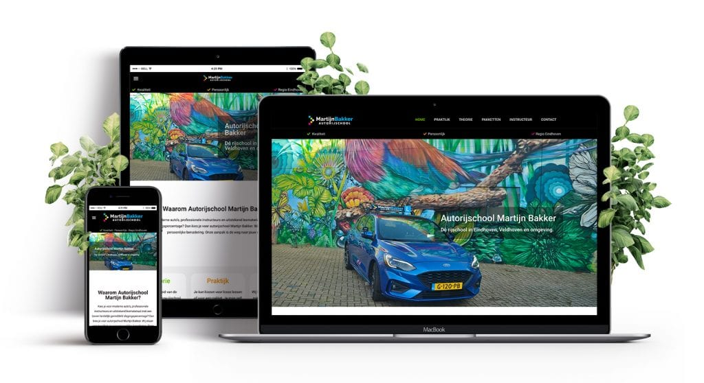 Autorijschool - Martijn Bakker - Website