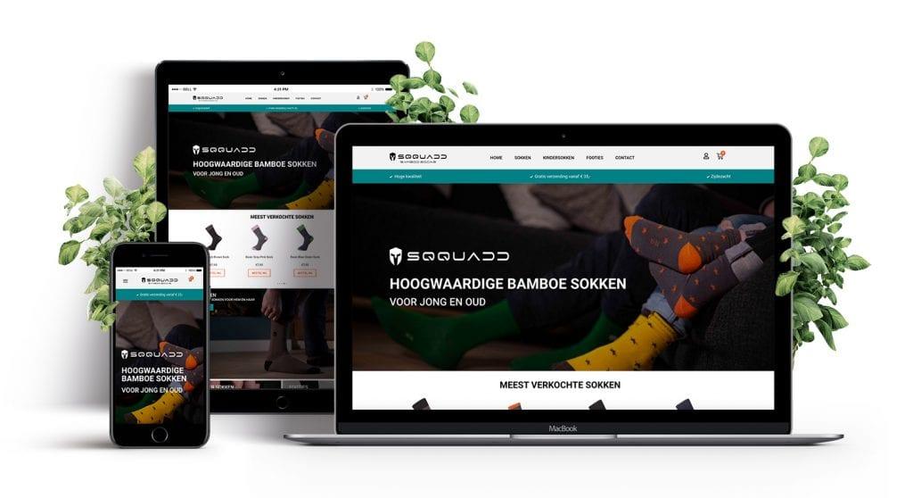 Sqquadd Bamboo Socks - nieuwe website