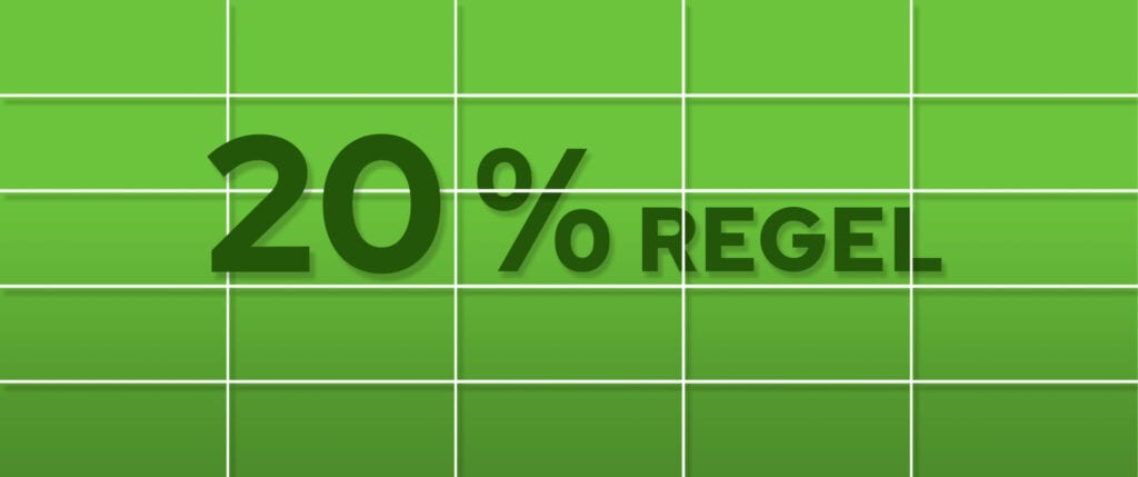 De 20% regel